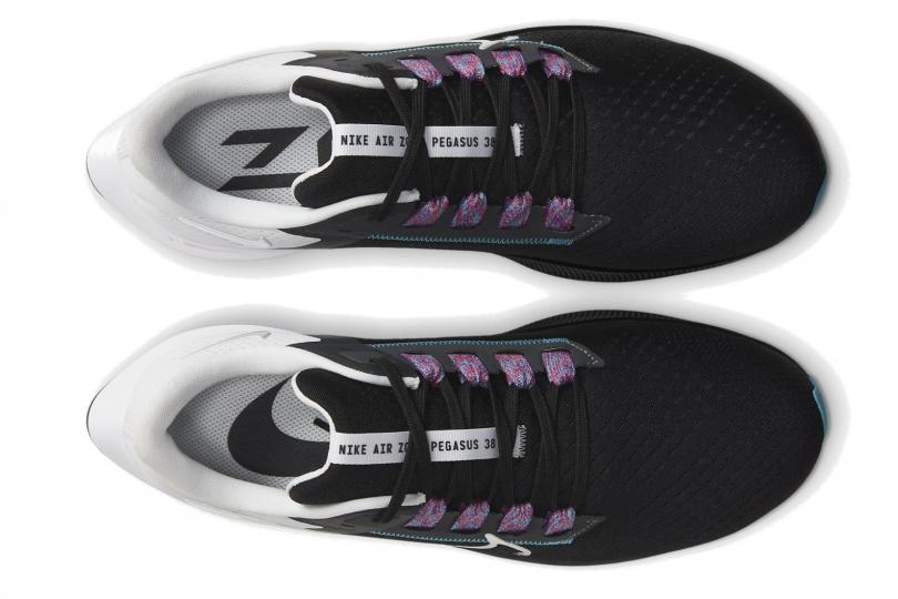 Nike Air Zoom Pegasus 38, vue du dessus