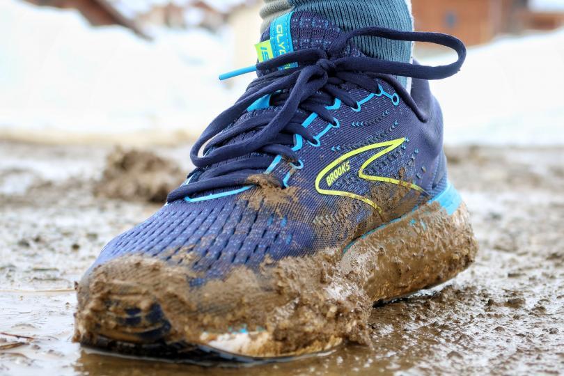 Test Brooks Glycerin 19 - Passage en sentier, dans la boue