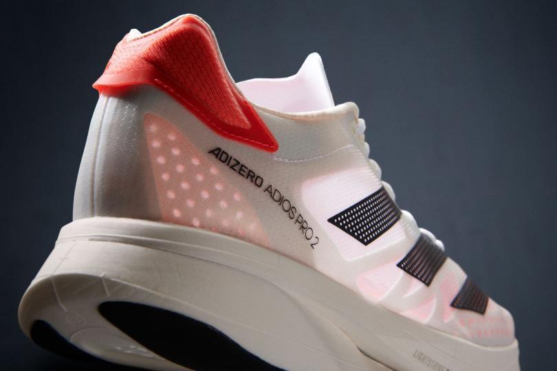L'arrière de la Adidas Adizero Adios Pro 2